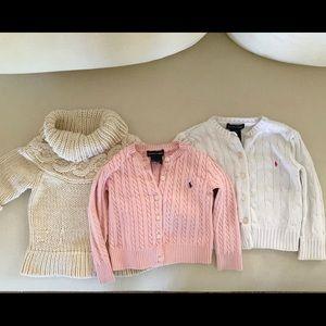 Ralph Lauren and Gap sweaters